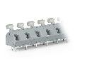 PCB terminal block; push-button; 2.5 mm�; Pin spacing 10/10.16 mm; 2-pole; CAGE CLAMP�; commoning option; 2,50 mm�; gray