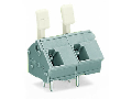 PCB terminal block; finger-operated levers; 2.5 mm�; Pin spacing 10/10.16 mm; 2-pole; CAGE CLAMP�; commoning option; 2,50 mm�; gray