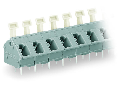 PCB terminal block; push-button; 2.5 mm�; Pin spacing 7.5/7.62 mm; 24-pole; suitable for Ex-e applications; CAGE CLAMP�; commoning option; 2,50 mm�; light gray