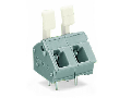 PCB terminal block; finger-operated levers; 2.5 mm�; Pin spacing 7.5/7.62 mm; 10-pole; CAGE CLAMP�; commoning option; 2,50 mm�; gray