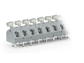 PCB terminal block; push-button; 2.5 mm�; Pin spacing 7.5/7.62 mm; 9-pole; CAGE CLAMP�; commoning option; 2,50 mm�; gray