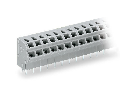 2-conductor PCB terminal block; 0.75 mm�; Pin spacing 5/5.08 mm; 16-pole; PUSH WIRE�; 0,75 mm�; gray