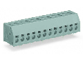 2-conductor PCB terminal block; 1.5 mm�; Pin spacing 5 mm; 14-pole; PUSH WIRE�; 1,50 mm�; gray