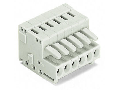 1-conductor female plug; 100% protected against mismating; 1.5 mm; Pin spacing 3.5 mm; 5-pole; 1,50 mm; light gray