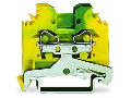 2-conductor ground terminal block; 4 mm; lateral marker slots; for DIN-rail 35 x 15 and 35 x 7.5; CAGE CLAMP; 4,00 mm; green-yellow