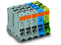 Three phase set; with 95 mm high-current tbs; only for DIN 35 x 15 rail; copper; 95 mm; POWER CAGE CLAMP; 95,00 mm; gray, blue, green-yellow