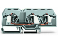 3-conductor through terminal block; 16 mm; center marking; for DIN-rail 35 x 15 and 35 x 7.5; CAGE CLAMP; 16,00 mm; gray