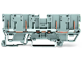 4-pin carrier terminal block; for DIN-rail 35 x 15 and 35 x 7.5; gray