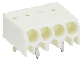 PCB terminal block; 1.5 mm; Pin spacing 3.5 mm; 3-pole; PUSH WIRE; 1,50 mm; white