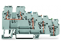 4-conductor sensor terminal block; with colored conductor entries; 2.5 mm; CAGE CLAMP; 2,50 mm; gray