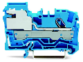 1-conductor N-disconnect terminal block; 6 mm; Push-in CAGE CLAMP; 6,00 mm; blue