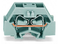 4-conductor terminal block; without push-buttons; with fixing flange; for screw or similar mounting types; Fixing hole 3.2 mm Ø; can be commoned with adjacent jumpers and staggered jumpers; CAGE CLAMP®; 1,50 mm²; orange