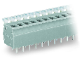 PCB terminal block; push-button; 2.5 mm�; Pin spacing 5/5.08 mm; 3-pole; CAGE CLAMP�; commoning option; 2,50 mm�; gray