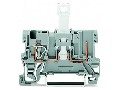 1-conductor/1-pin disconnect carrier terminal block; with shield contact; for DIN-rail 35 x 15 and 35 x 7.5; 4 mm�; CAGE CLAMP�; 4,00 mm�; gray