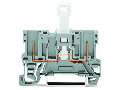 2-pin disconnect carrier terminal block; for DIN-rail 35 x 15 and 35 x 7.5; 4,00 mm�; gray