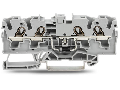 Component terminal block; 4-conductor; with diode 1N5408; anode, left side; for DIN-rail 35 x 15 and 35 x 7.5; 4 mm�; Push-in CAGE CLAMP�; 4,00 mm�; gray