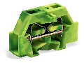2-conductor terminal block; without push-buttons; with fixing flange; for screw or similar mounting types; Fixing hole 3.2 mm �; 2.5 mm�; CAGE CLAMP�; 2,50 mm�; green-yellow