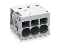 PCB terminal block; 6 mm�; Pin spacing 7.5 mm; 4-pole; Push-in CAGE CLAMP�; 6,00 mm�; gray
