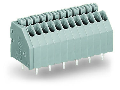 PCB terminal block; push-button; 0.5 mm�; Pin spacing 2.54 mm; 2-pole; Push-in CAGE CLAMP�; 0,50 mm�; gray