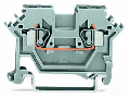 2-conductor through terminal block; 2.5 mm�; suitable for Ex i applications; lateral marker slots; for DIN-rail 35 x 15 and 35 x 7.5; CAGE CLAMP�; 2,50 mm�; blue
