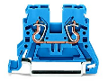 2-conductor through terminal block; 2.5 mm�; suitable for Ex i applications; side and center marking; for DIN-rail 35 x 15 and 35 x 7.5; CAGE CLAMP�; 2,50 mm�; blue