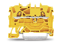 2-conductor through terminal block; 1.5 mm; suitable for Ex e II applications; side and center marking; for DIN-rail 35 x 15 and 35 x 7.5; Push-in CAGE CLAMP; 1,50 mm; yellow