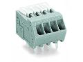 PCB terminal block; Locking slides; 0.5 mm; Pin spacing 2.5 mm; 7-pole; CAGE CLAMP; 0,50 mm; gray