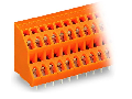 Double-deck PCB terminal block; 2.5 mm; Pin spacing 5.08 mm; 2 x 12-pole; CAGE CLAMP; 2,50 mm; orange