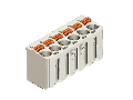 1-conductor female plug; direct marking; 2.5 mm; Pin spacing 5 mm; 4-pole; 2,50 mm; light gray