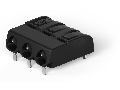 THR PCB terminal block; push-button; 1.5 mm; Pin spacing 6 mm; 3-pole; Push-in CAGE CLAMP; in tape-and-reel packaging; 1,50 mm; black
