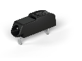 THR PCB terminal block; push-button; 0.75 mm; Pin spacing 4 mm; 1-pole; Push-in CAGE CLAMP; in tape-and-reel packaging; 0,75 mm; black