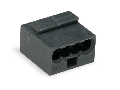 MICRO PUSH WIRE® connector for junction boxes; for solid conductors; 0.8 mm Ø; 4-conductor; dark gray housing; light gray cover; Surrounding air temperature: max 60°C; 0,80 mm²; dark gray