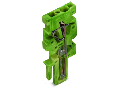 End module for 1-conductor female connector; 4 mm²; 1-pole; 4,00 mm²; green-yellow