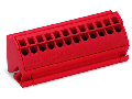 Busbar terminal block; for (10 x 3) mm busbars; 12-pole; without push-buttons; 4 mm; 4,00 mm; red