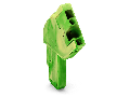 1-conductor female plug; angled; 4 mm; 1-pole; 4,00 mm; green-yellow