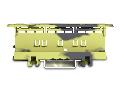 Suport pentru montaj cleme 221 pe sina omega ; 221 Series - 6 mm; for DIN-35 rail mounting/screw mounting; dark gray-yellow