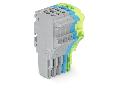 1-conductor female plug; 1.5 mm; 5-pole; 1,50 mm; gray, blue, green-yellow