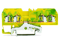 4-conductor shield terminal block; 2.5 mm; center marking; for DIN-rail 35 x 15 and 35 x 7.5; CAGE CLAMP; 2,50 mm; white