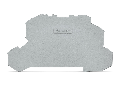 End and intermediate plate; 1 mm thick; gray