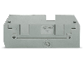 Step-down cover plate; 1 mm thick; in connection with 2-conductor 282-901 terminal blocks; gray