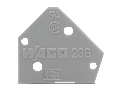 End plate; 1 mm thick; snap-fit type; light green