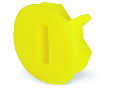 Finger guard; touchproof cover protects unused conductor entries; yellow
