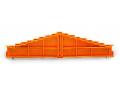 8-level end plate; plain; 7.62 mm thick; orange