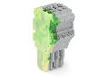 1-conductor female plug; 1.5 mm�; 4-pole; 1,50 mm�; green-yellow, gray