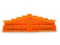 4-level end plate; marking: a-b-c-d--d-c-b-a; 7.62 mm thick; orange