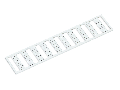 WMB marking card; as card; MARKED; 101 ... 150 (2x); Horizontal marking; snap-on type; white