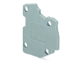 End plate; for modular TOPJOB®S connector; 1.5 mm thick; gray