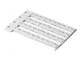 Marker card; as card; Tag size 12 x 7 mm; not stretchable; snap-on type; white