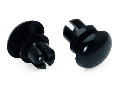 Fixing pin; 6 mm Ø, for 1.0 … 2.5 mm mounting plates; Plastic; black