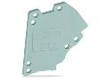 End plate; for modular TOPJOBS test plug module; gray